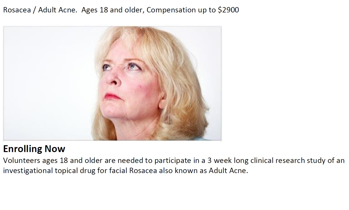 Adult Acne / Rosacea (starting soon)